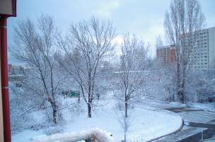 Sofia, Bulgaria draped in white